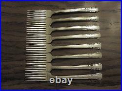 Rogers 1881 DEL MAR Silverplated Oneida Flatware 1939, 59 Pcs