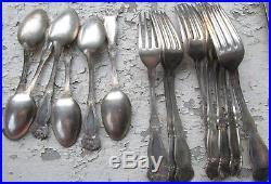 Rogers 1910 ORANGE BLOSSOM 12 Knives, 11 Forks, 5 Tsp NICE! FREE SHIPPING