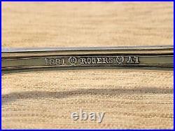 Rogers A1 Silverplate Grecian Oneida Pie Forks 1915 Greek Key Flatware Set of 6