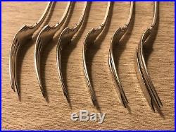 Rogers A1 Silverplate Grecian Oneida Pie Forks 1915 Greek Key Flatwear Set of 6