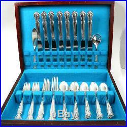 Rogers & Bro Daybreak Elegant Lady IS 1952 Silverware Set 49 piece Vintage