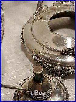 Rogers Bros 1847 Heritage Coffee/teapot Kettle Stand Burner