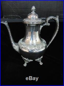 Rogers Bros 1847 Heritage Coffee/teapot Kettle Stand Burner Tray Creamer Sugar