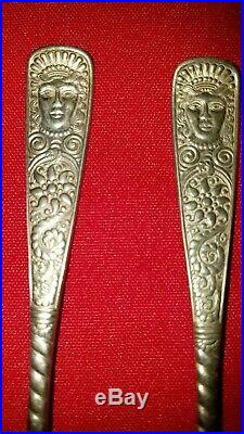 Rogers Bros. 1847 XII Assyrian Head Pattern (6) Teaspoons GC FS RARE FS