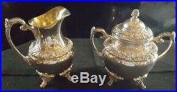 Rogers Bros COFFEE TEA SET 1847 Silverplate HERITAGE Pot Teapot Tray