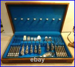 Rogers Bros IS Silverplate GRAND HERITAGE 1847 Flatware 74 PCS Service for 12
