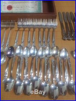 Rogers Bros Silver Extra Plate Flatware Set Complete service for 8 in Box