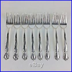 Rogers Daybreak Elegant Lady Silverplate Silverware Flatware IS 44 pcs Vtg