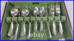 Rogers Silverplate 1938 ROSALIE 2491 Pttrn 14 Place Setting Oneida Ltd. Flatware