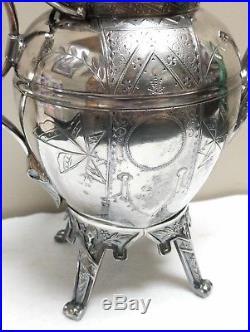 Rogers Smith & Co. Eastlake Victorian Aesthetic Silverplate Teapot No Monogram