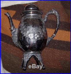 Rogers Smith & Co (New Haven) Civil War Era Ornate Coffe Pot 1907 Pattern