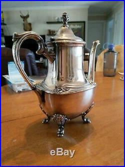 Rogers brothers 1847 Silver Plate 5 Piece Daffodil Tea Set