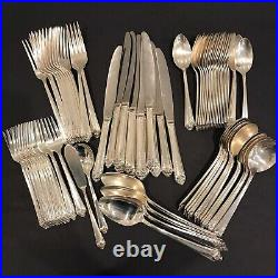 Service for 12 Starlight Set Silverplate Flatware 1950 Rogers & Bro IS 78 Pcs