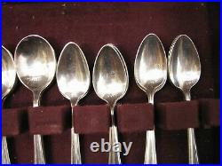 Set 1847 Rogers Bros Silver Plated Eternally Yours Flatware 51 pcs svc/8 withBox D