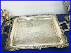 Set 7 Pieces F. B. ROGERS SILVER CO. 1883 Vintage, Never Used