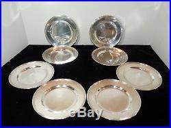 Set/8 International STERLING 6 Bread Plates LORD SAYBROOK ROGERS 725 Grams 0400