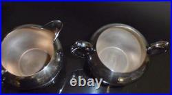 Silver, 5 Piece Tea Set with Tray (F. B. Rogers) No Monogram, Very Nice