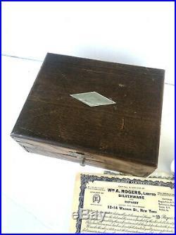 Silver Plate Flatware La Vigne Grape 1881 Rogers Vintage 1908 Set For 6