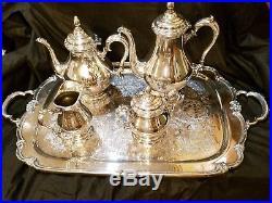 Silver Tea Set Rogers Bros. Remembrance 5 piece set EXCELLENT