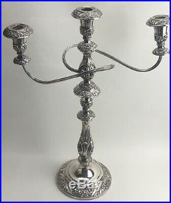 Triple Arm Silver Plated Candelabra Heritage 1847 Rogers Bros
