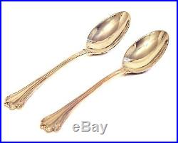 UNUSED FB Rogers CHIPPENDALE GOLD ELECTROPLATE 8 SIX PIECE PLACE SETTINGS PLUS