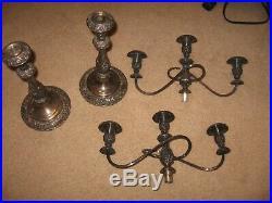 VINTAGE1847 Rogers Brothers Candelabra Heritage 9416 3 Candle Holder Silverplate