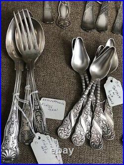 VINTAGE 50 pc DEALER Lot BEAUTIFUL Silverplate Flatware 1800s Rogers Bros+ WOW