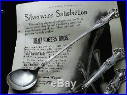 VINTAGE GRAPE 1847 ROGERS BROS c. 1904 CHOCOLATE MUDDLER CAKE FORK + HOSTESS SET