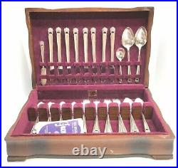 VINTAGE SET 52pcs 1847 Rogers Bros Silverplate Flatware ETERNALLY YOURS With Box