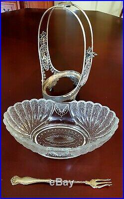 Victorian Antique Pickle Condiment Castor Basket Rogers Bros Silver Plate