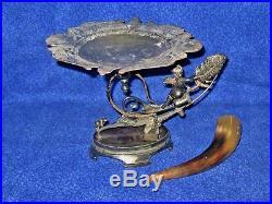 Victorian Cherub Horn Of Plenty Silverplate 1880s Rogers Bros Downton Abby