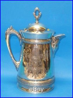 Victorian Rogers & Bro Tripleplate Pitcher Lemonade 197