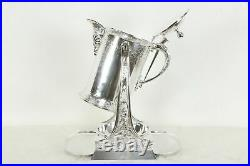 Victorian Silverplate Tilting Water Pitcher & Stand Rogers Smith Pat 1872 #34518