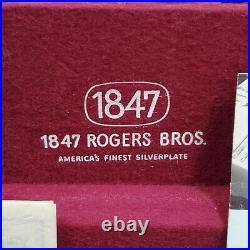 Vintage 1847 Rogers Bros IS Heritage Silverware Flatware Silver Box Set 61 Piece
