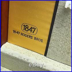Vintage 1847 Rogers Bros Set Silverplated Silverware Ancestral In Box Flatware