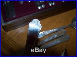 Vintage 1847 Rogers Bros Silver Plate Flatware Set Ancestral Pattern
