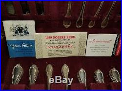 Vintage 1847 Rogers Bros Sixty Piece Silverware Set