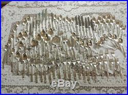 Vintage 1847 Rogers Eternally Yours 103 Pieces Silverplate Silverware Flatware