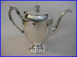 Vintage 1881 Rogers Canada Silverplated Teapot, Sugar Bowl, Creamer Set