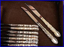 Vintage 1881 Rogers Oneida 55 Piece Silverware Set + Chest