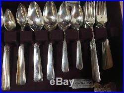 Vintage 1881 Rogers Oneida Ltd CAPRI Silverplate Flatware Set