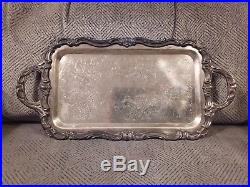 Vintage 1883 F. B. Rogers Co. Silver Plate Serving Tray Platter #6083 9.5 x 6