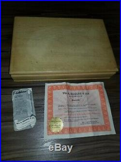 Vintage 1938 WM A Rogers AA Sterling Silver Silverware Set Of 67 Wood Case