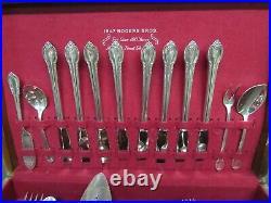 Vintage 1948 57 Piece Set of 1847 Rogers Remembrance Flatware & Serving Pieces