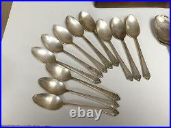 Vintage 1950 Rogers & Bros Starlight Silverplate Silverware 42pc Set With Chest