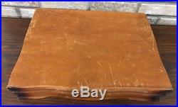Vintage 52 Piece SET WM Rogers AA Silverware JUBILEE Certificate & Storage Chest