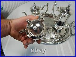 Vintage! 5Pc. Wm. Rogers Silverplate Tea Set