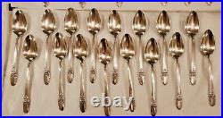 Vintage 60 pcs Silverware Set, Silverplated 1847 Rogers Bros FIRST LOVE, IS
