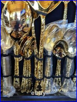 Vintage 62 Piece WM Rogers & Son Victorian Rose Gold Plated Silverware Set & Cas