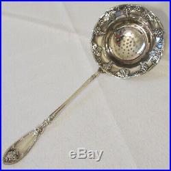 Vintage A1 Silverplate 1881 Rogers La Vigne Grape Pattern Tea Strainer Spoon